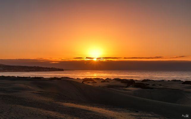 Glühender Sonnenaufgang - Kanaren630