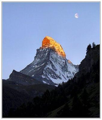 Glühendes Matterhorn