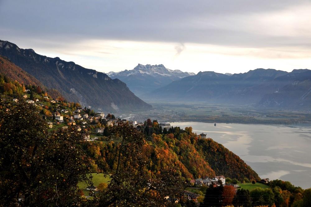 Glyon sur Montreux et les Dents du Midi