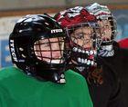 Goalie-Nachwuchs im Training