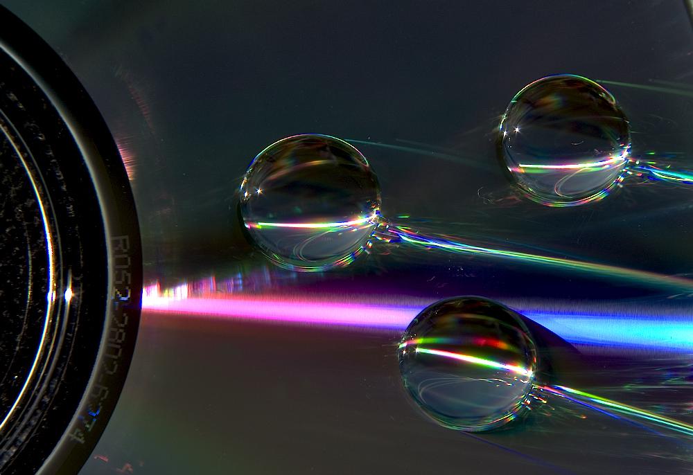 Gocce d'acqua su CD