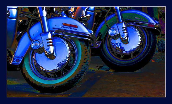 God rides a Harley ...