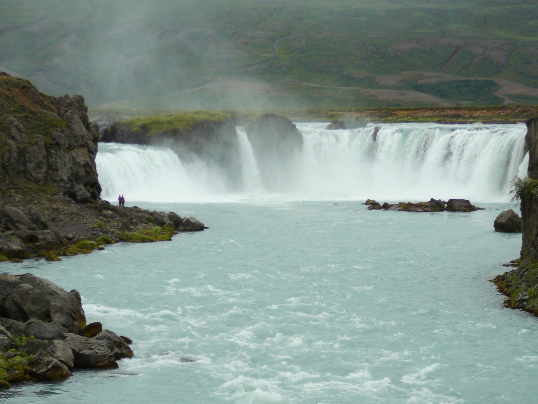 Godafoss der Götterwasserfall. Islands