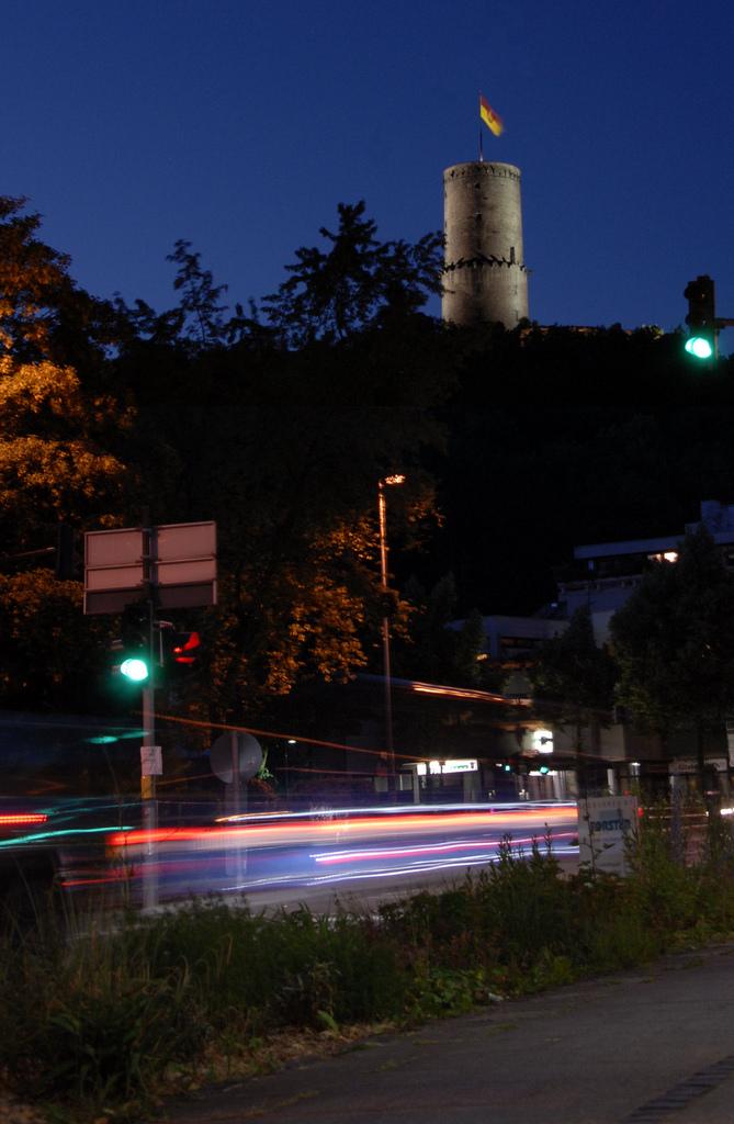 Godesburg bei Nacht