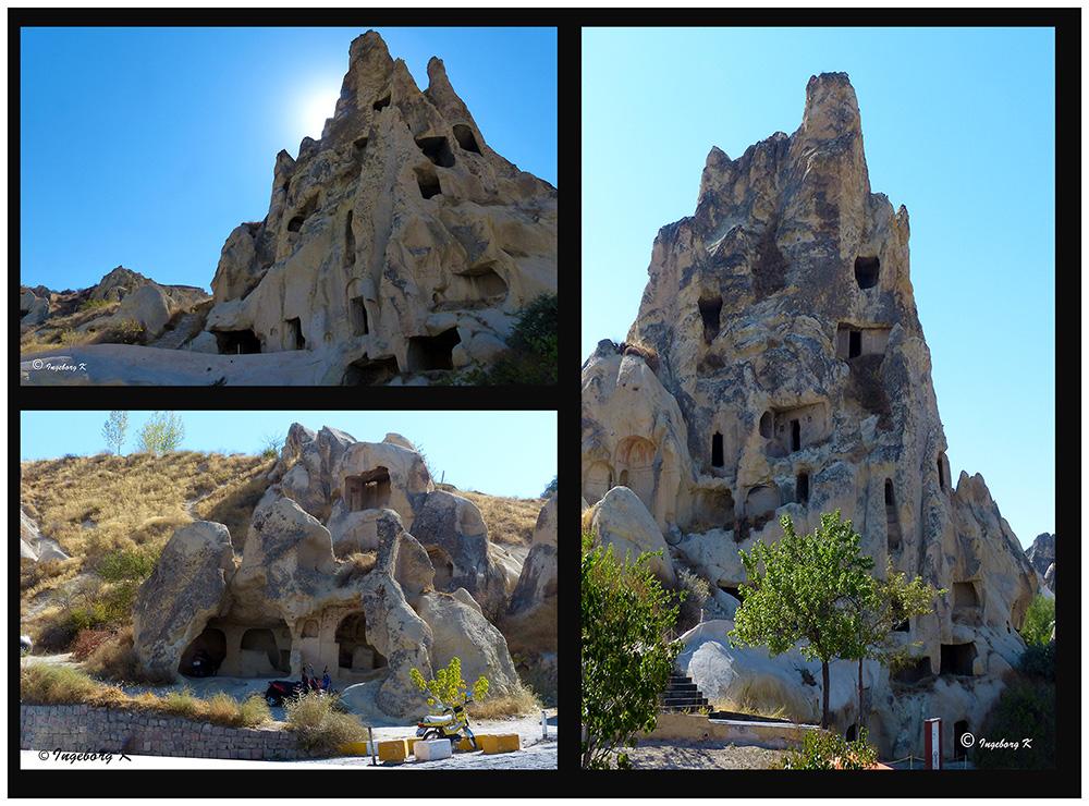 Göreme - von Klöstern und Wohnungen durchlöcherte Felsen
