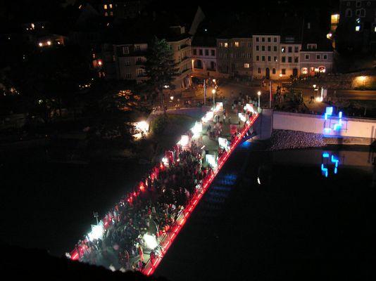 Görlitz taucht Brückenpark ins rechte Licht