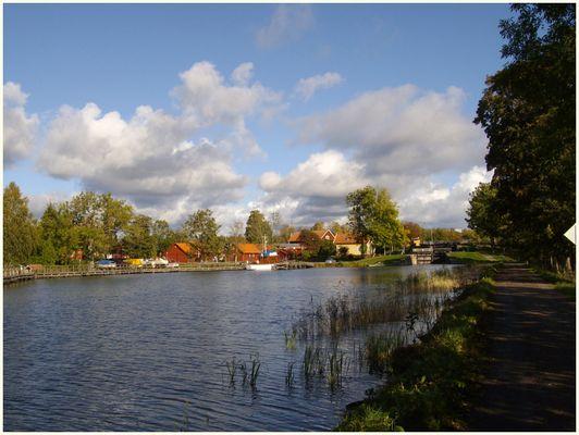 Götakanal in Sjötorp am Vänern