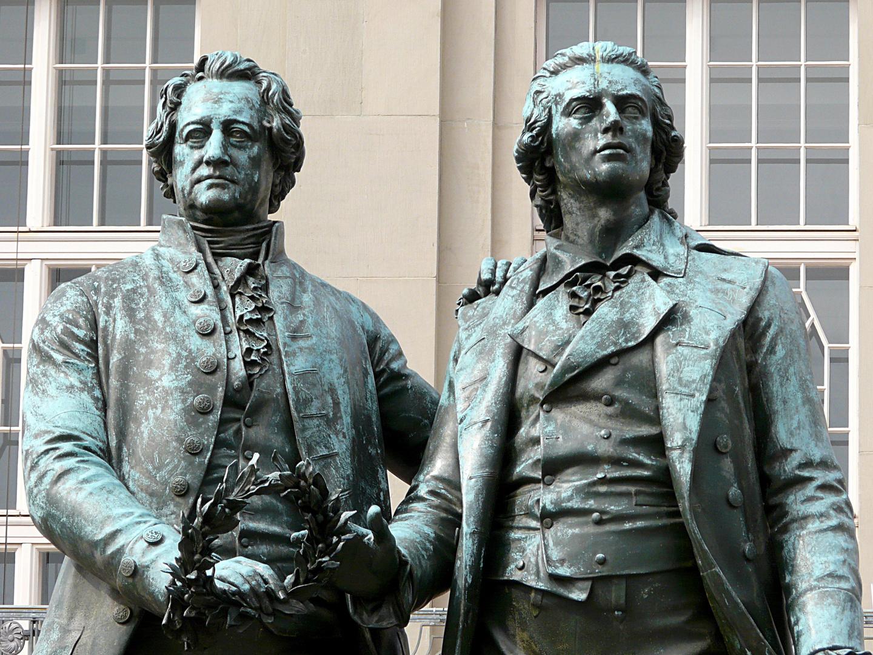 Briefe Von Schiller An Goethe : Goethe schiller foto bild deutschland europe