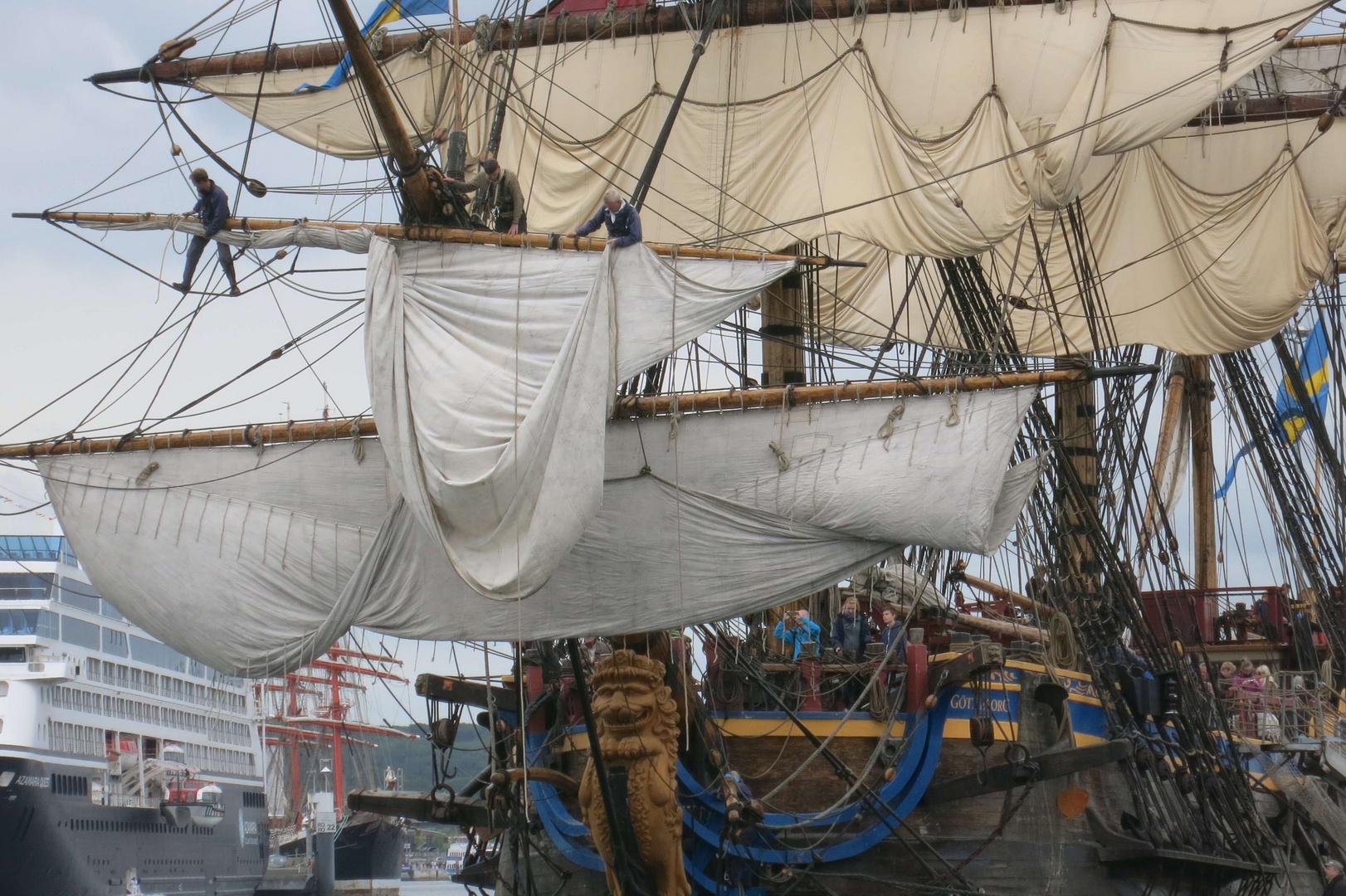"""""""Götheborg"""". Es handelt sich um einen Ostindienfahrer aus dem Jahre 1722 bzw. dessen Nach"""