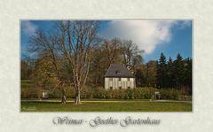 Goethes Gartenhaus...
