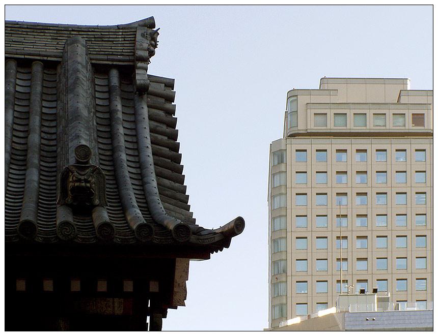 Gokokuji-Tempel in Tokyo: Gegensätze ziehen sich an
