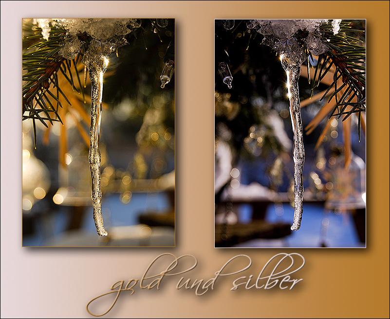 Gold und silber - warm und kalt