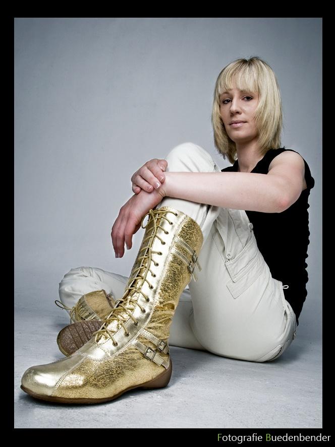 golden boots...