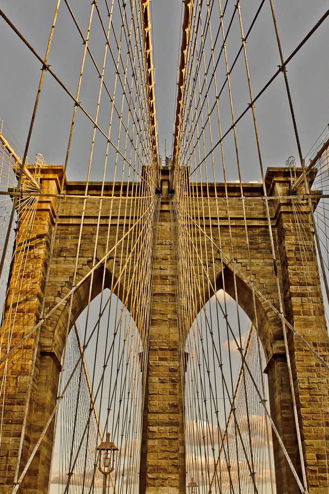 - Golden Brooklyn Bridge -
