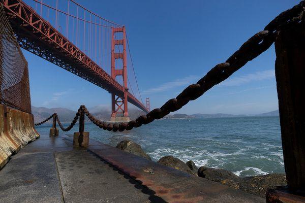 Golden Gate aus ungewohntem (Weit-) Winkel