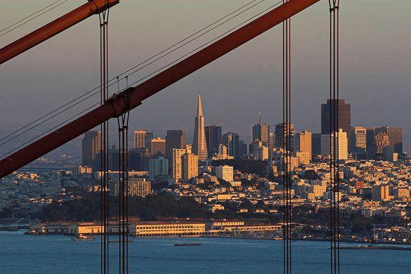 Golden Gate bei Sunset