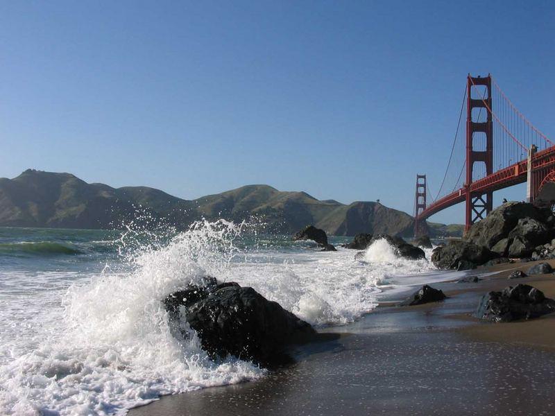 Golden Gate Brandung