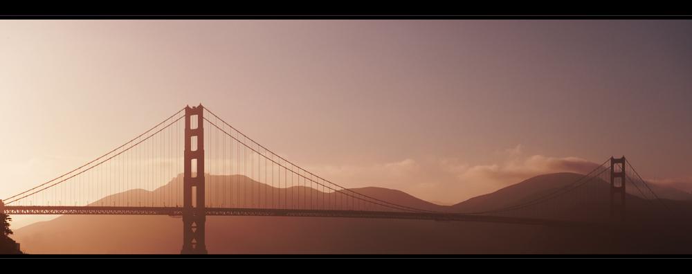 Golden Gate Bridge am Abend