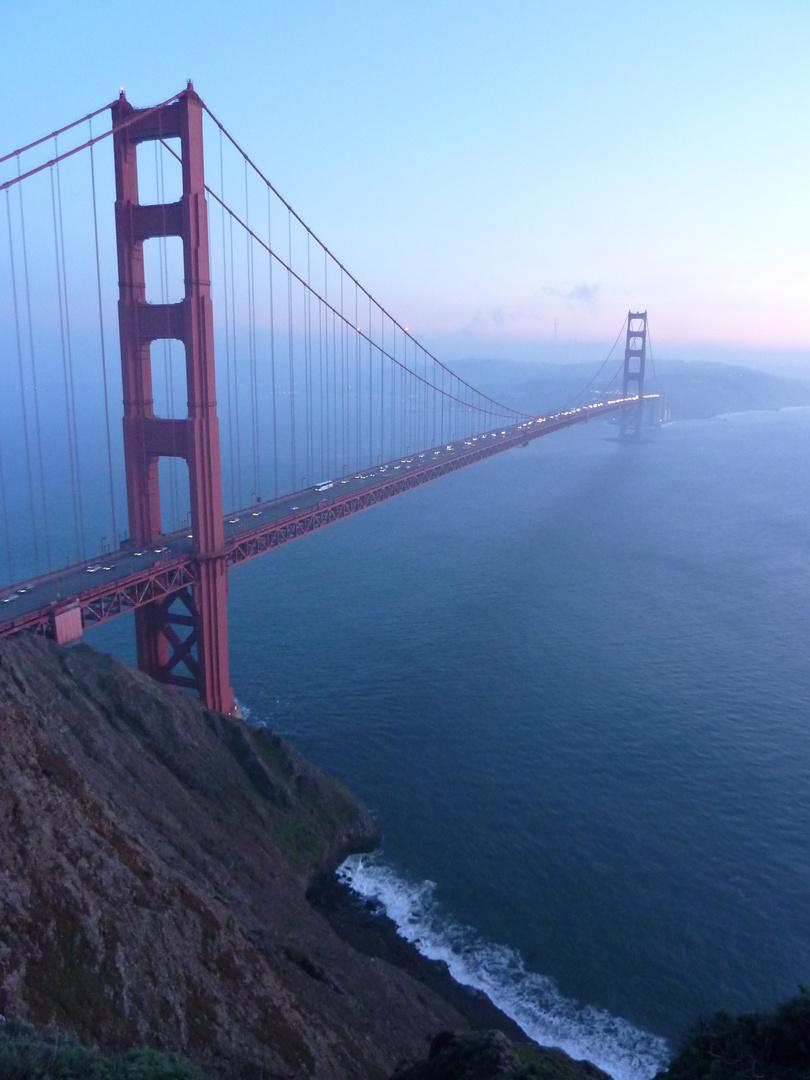 Golden Gate Bridge in January 2010