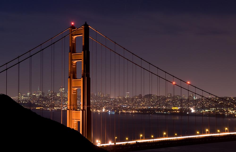 Golden Gate Bridge - Nachts