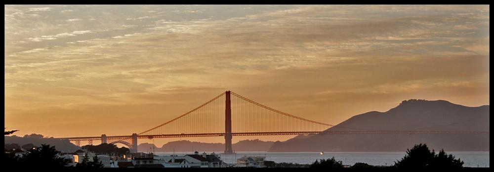 Golden Gate Bridge (sunset)