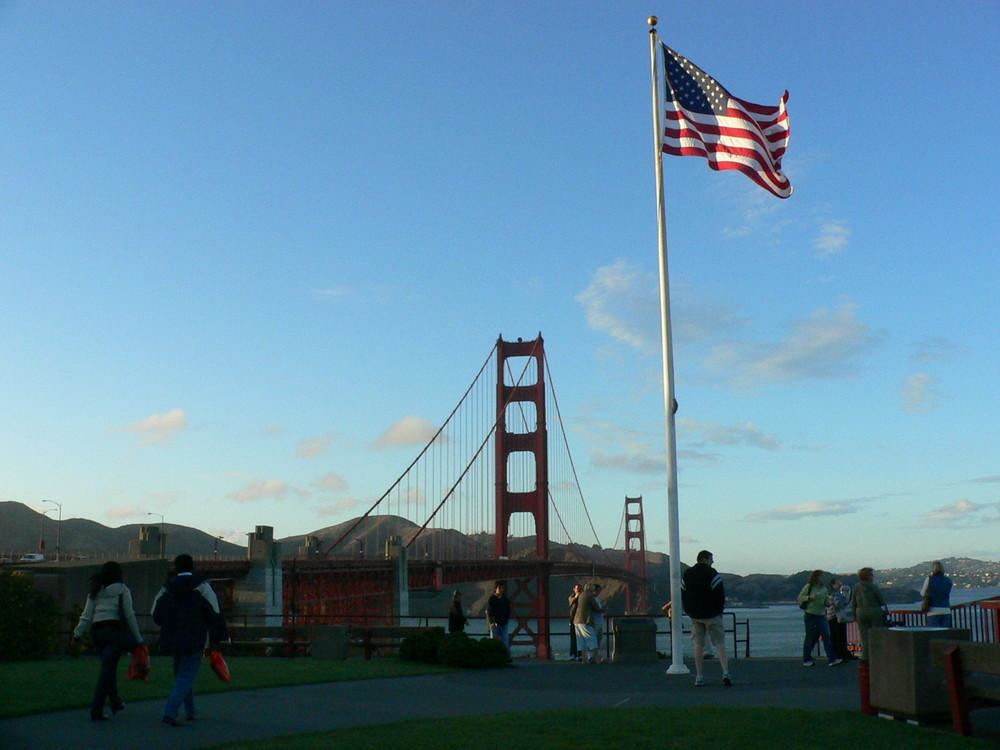 Golden Gate Brücke vom Südufer beim Visitorcenter.