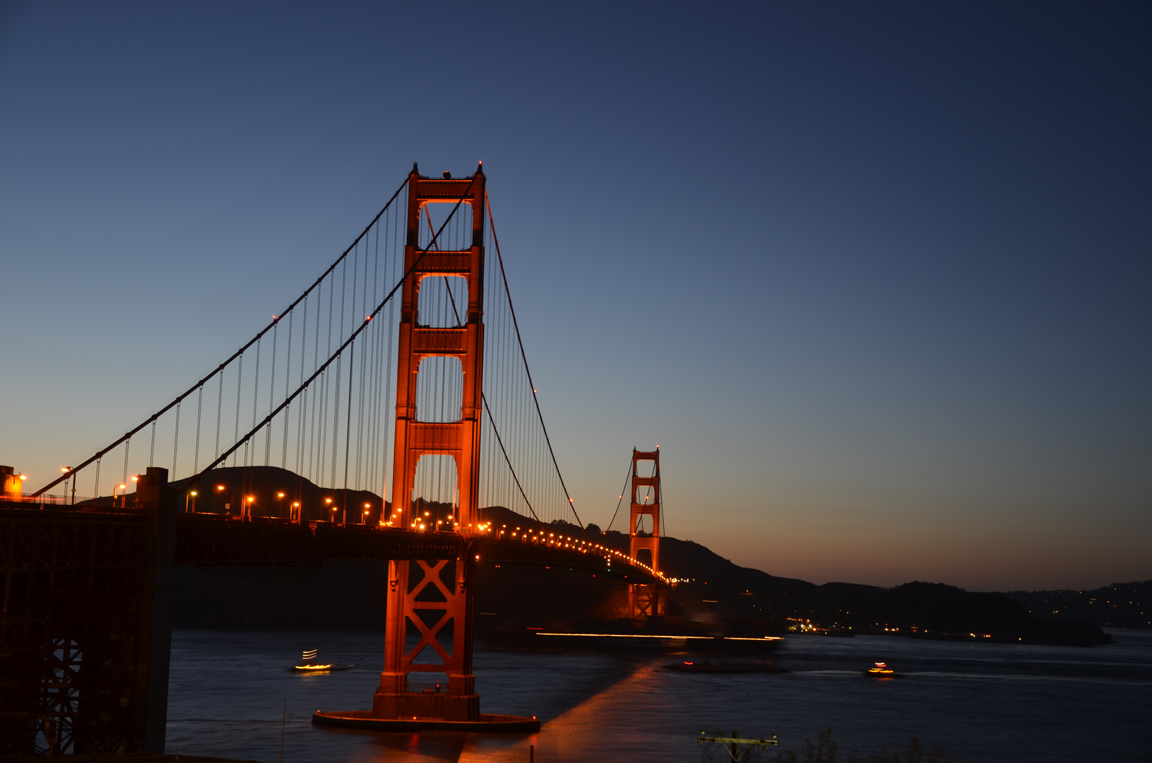 Golden Gate in der Dämmerung