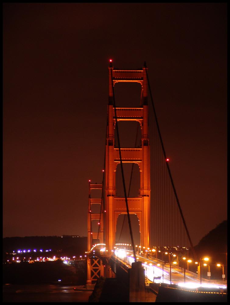 Golden Gate - Nachtaufnahme