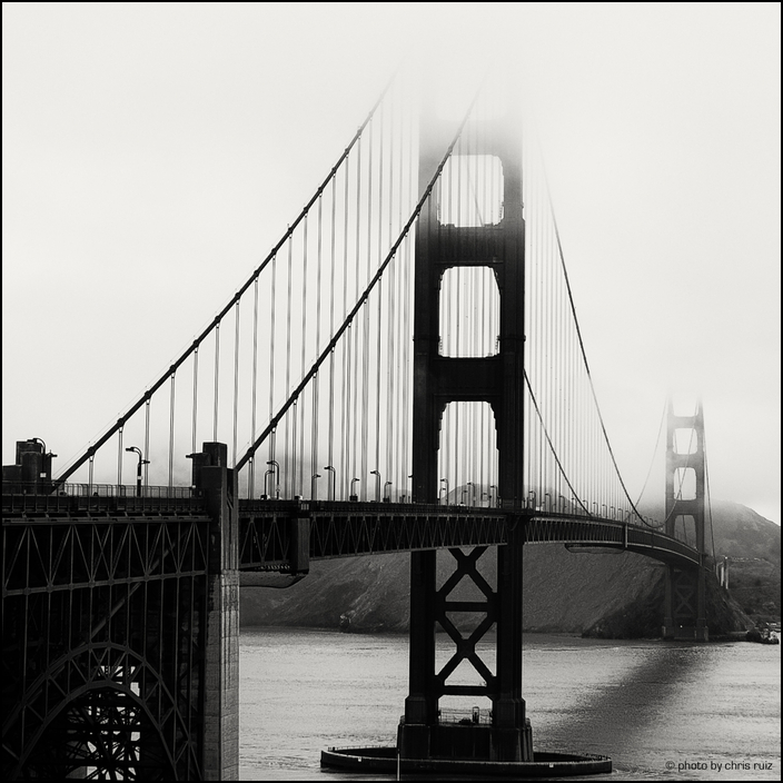 Golden Gate on a foggy day