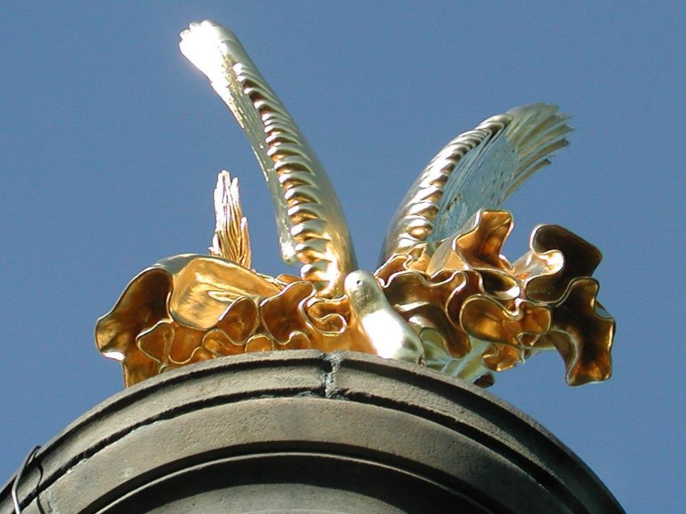 Golden Wings / Denkmal in Hakenberg/Land Brandenburg