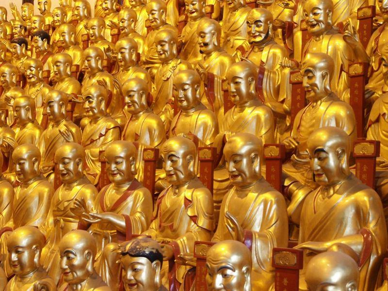 Goldene Buddhas (Longhua-Tempel),Shanghai