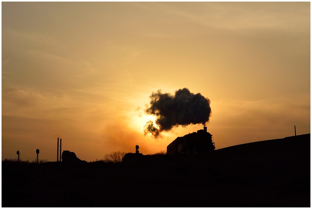 Goldener Dampf im silbernen Land - Baiyin 2013