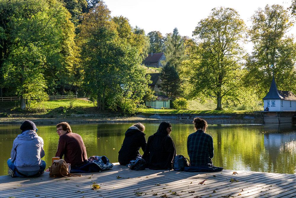Goldener Herbst auf Dreiweihern über St. Gallen #2