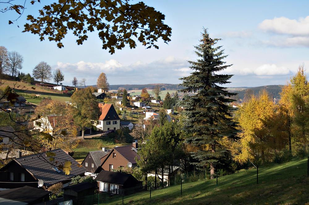 Goldener Herbst in Olbernhau