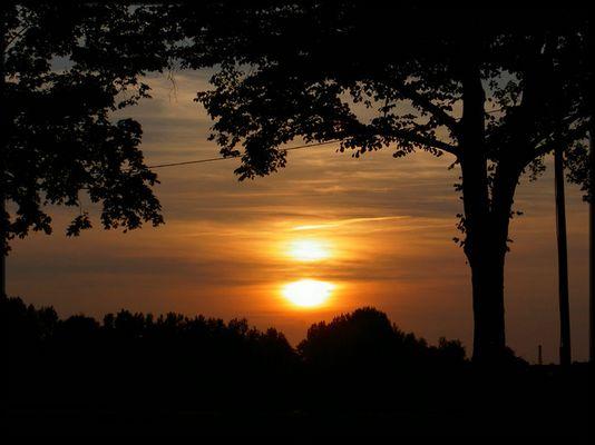 Goldener Herbstabend
