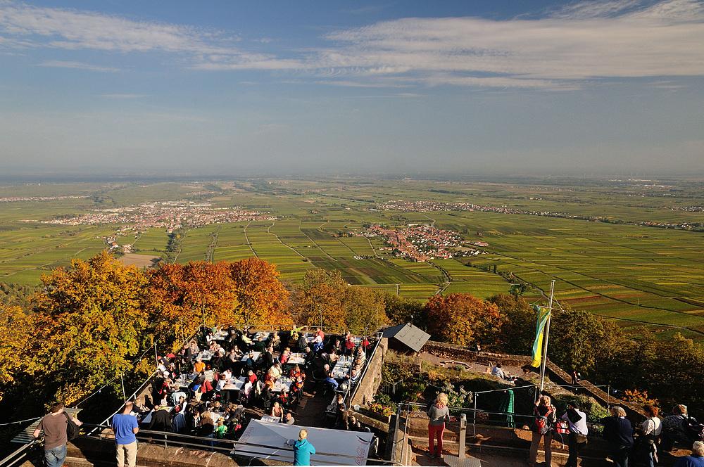 Goldener Oktober gestern nach der Rundwanderung auf die Riethburg,...