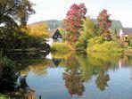 Goldener Oktober im Oberbergischen Land.