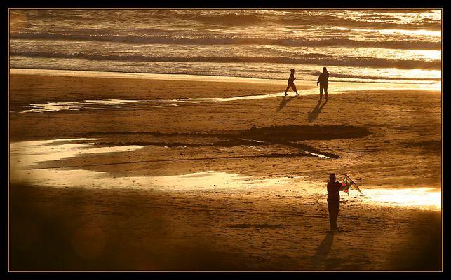 goldener sonnenuntergang...