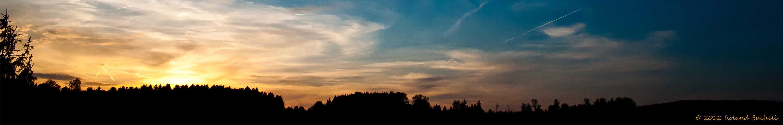Goldener Sonnenuntergang Pano 1