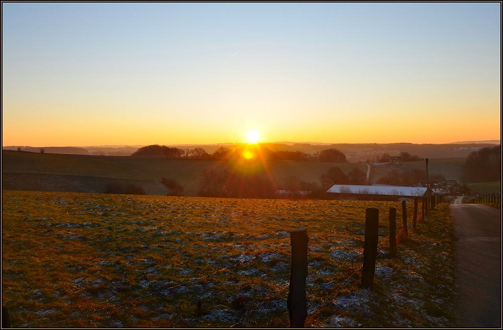 Goldener Wintermorgen