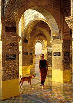 Goldenes Licht auf dem Mandalay-Hill