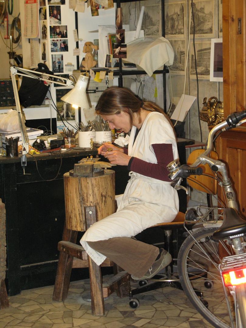 Goldschmiede Atelier in Rom