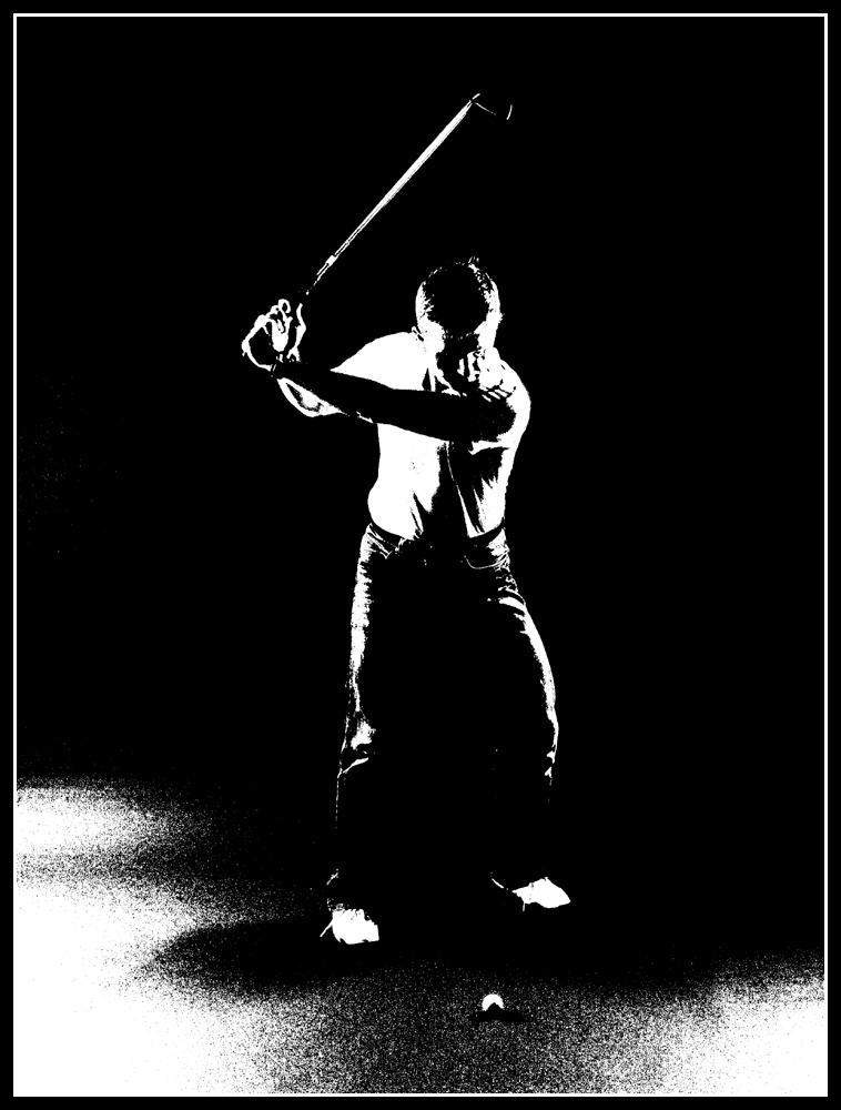 Golf in schwarzweiss