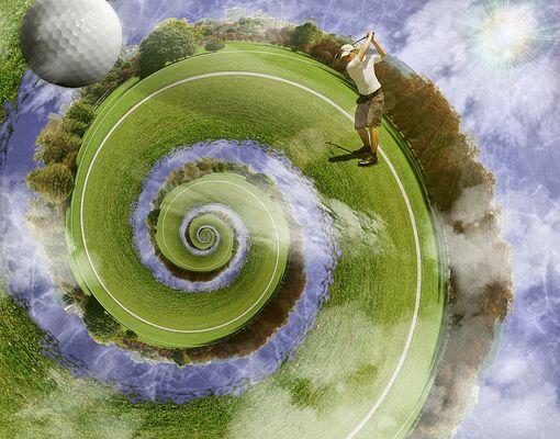 Golfpartie in der Spiralwelt