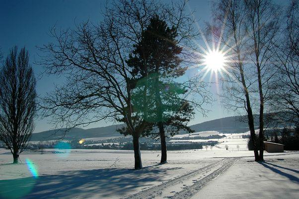 golfplatz im schnee