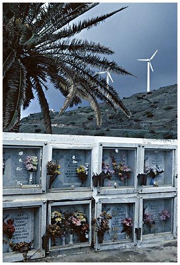 Gomera - Friedhof von Alojera