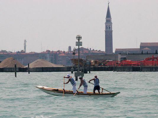 Gondel-Ruderer in Venedig