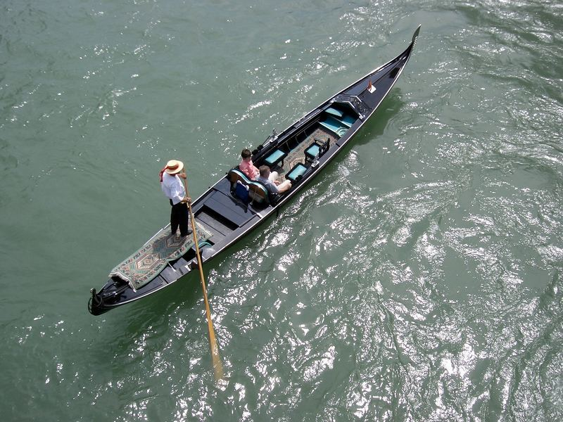 Gondola at the Grand Canal in Venice