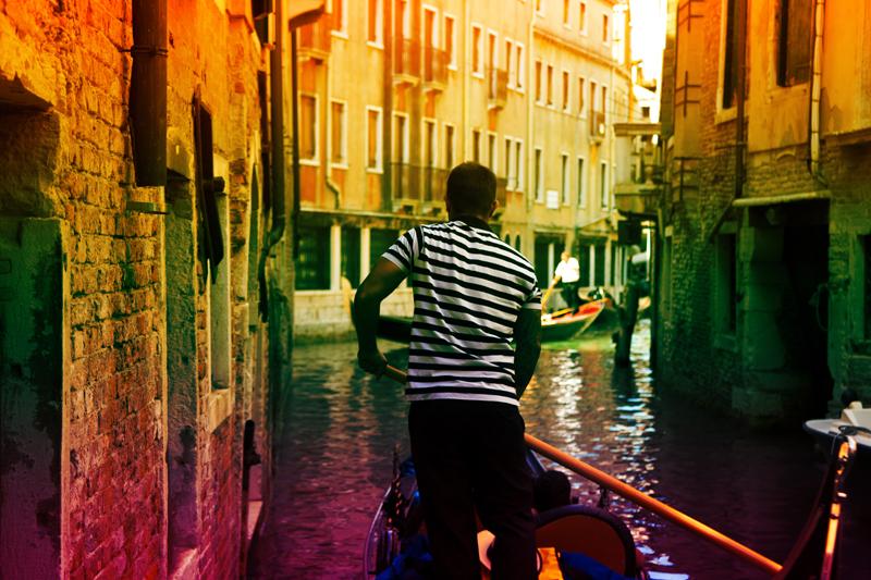 Gondola-Fahrer in Venedig