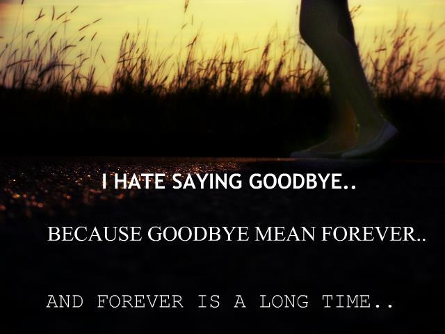 Goodbye..